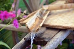 Wasser und Bambus Lizenzfreies Stockbild