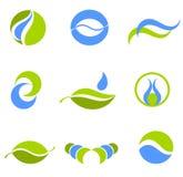 Wasser- und Erdesymbole Stockbild