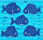 Wasser- und Fischschattenbildbild 4 Stockbild