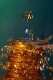 Wasser und Geld Stockfotos