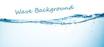 Wasser und Luftblasen über Weiß Lizenzfreies Stockbild