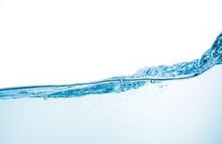 Wasser und Luftblasen über Weiß Lizenzfreie Stockfotos