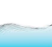 Wasser und Welle über weißem Hintergrund Stockbild