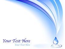 Wasser-Visitenkarte Lizenzfreie Stockfotos