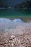 Wasser von Crno Jezero Stockbild