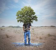 Wasser von einer trockenen Wüste Lizenzfreie Stockfotos