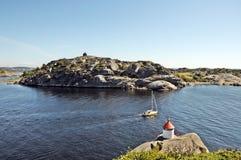 Wasser von Larvik Stockfotos