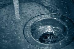 Wasserablaß stockfotografie