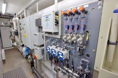 Wasseraufbereitungsfilterausrüstung Stockfotos