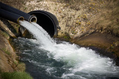 Wasserausfluß Lizenzfreie Stockbilder