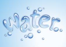 Wasserauslegung Lizenzfreie Stockfotos