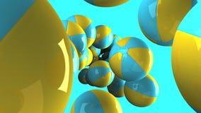 Wasserbälle auf blauem Hintergrund