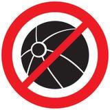 Wasserball, der Verbotsymbol spielt Stockbilder