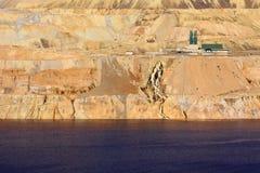 Wasserbehandlung an der Tagebaugrube Stockbild