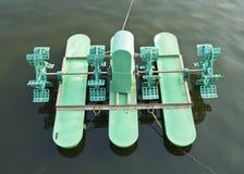 Belüftungsanlage im Teich. Stockfotografie