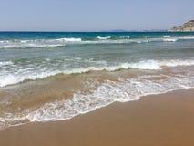 Wasserbeschaffenheit im Mittelmeerküstenufer Insel auf dem Seestrand Beschaffenheit des Meerwassers Das adriatische Meer Wasser n Lizenzfreie Stockfotografie