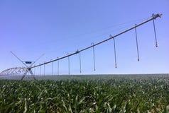 WasserBewässerungssystem auf Bauernhof Stockfotos