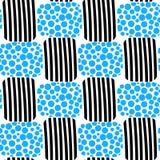 Wasserblasen und nahtloses Muster des Streifenstrandes Stockbild