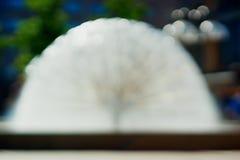 Wasserbrunnen bokeh Hintergrund Lizenzfreie Stockbilder