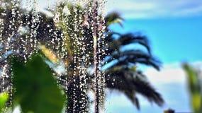 Wasserbrunnen in der Nahaufnahme von einzelnen Tropfen stockfoto