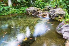 Wasserbrunnen im Garten oder im Park Lizenzfreies Stockbild