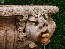 Wasserbrunnen mit groteskem, geschnitztem Gesicht lizenzfreie stockfotografie