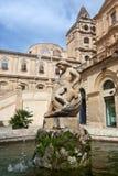 Wasserbrunnen, Noto, Sizilien, Italien Stockbilder