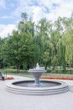 Wasserbrunnen an Orunia-Park Stockfoto