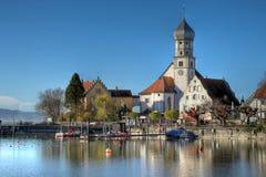 Wasserburg em Bodensee, Alemanha Foto de Stock Royalty Free