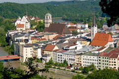 Wasserburg am Inn. The old town of Wasserburg am Inn is situated on a peninsula of Inn River stock image
