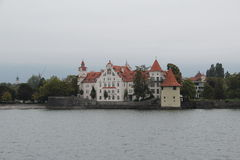 Wasserburg no lago Bodensee, Alemanha fotografia de stock
