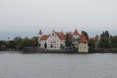 Wasserburg på sjön Bodensee, Tyskland arkivbild