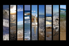 Wassercollage Stockfotos