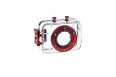 Wasserdichter Unterwasserkasten für Kamera Stockbilder