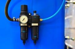 Wasserdruck-Sensor im Wasserversorgungssystem lizenzfreies stockfoto