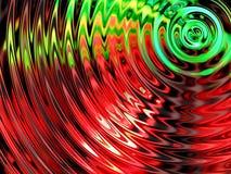 Wassereffekthintergrund, bunte Wasserresonanz stockbild
