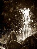 Wassereruption, Mauritius Stockfoto
