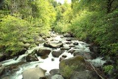 Wasserfälle als Energie Stockbild