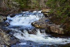 Wasserfälle auf Robbs-Nebenfluss in den Adirondack-Bergen Lizenzfreie Stockfotos