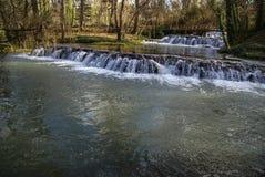 Wasserfälle bei Monasterio de Piedra, Saragossa, Aragonien, Spanien Stockfotos