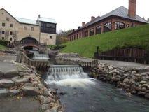 Wasserfälle in Belmontas im Herbst Lizenzfreie Stockfotos