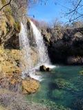 Wasserfälle in der Landschaft Stockbild
