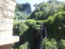 Wasserfälle des Marmore stockfotos