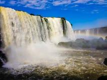 Wasserfälle Foz tun Iguaçu Brasilien Lizenzfreie Stockfotos
