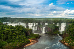 Wasserfälle in Iguazu Stockfotografie
