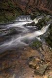 Wasserfälle im Fluss Hoegne Lizenzfreies Stockbild