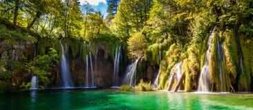 Wasserfälle im Plitvice See-Nationalpark Stockfoto