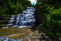 Wasserfälle im Sommer Stockbild