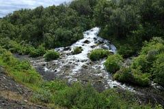 Wasserfälle in Island Lizenzfreies Stockfoto