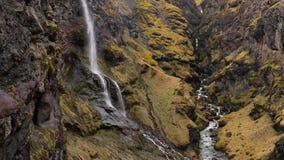 Wasserfälle in Island stock video